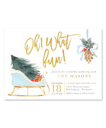 Oh What Fun, Christmas Party Invitation {Blue}