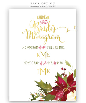 Brunch & Bubbly Bridal Shower Invitation: Winter Floral Poinsettias