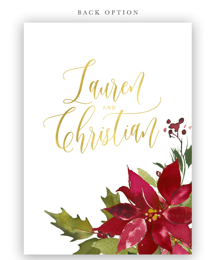 Poinsettia Holiday Bridal Shower Invitation