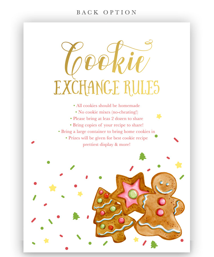 Cookie Exchange Party Christmas Holiday Invitation Sea Paper Designs