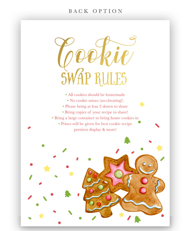 Cookie Swap Party Christmas Holiday Invitation Sea Paper Designs