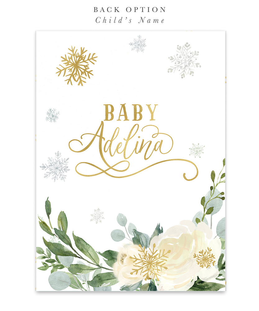 Holiday 45: Winter, Snowflake Baby Shower Invitation