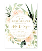 Ada: Floral Girl Baby Shower Invitation