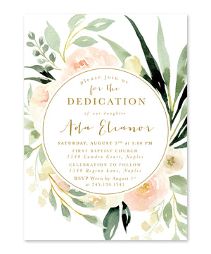 Ada: Floral Dedication Invitation
