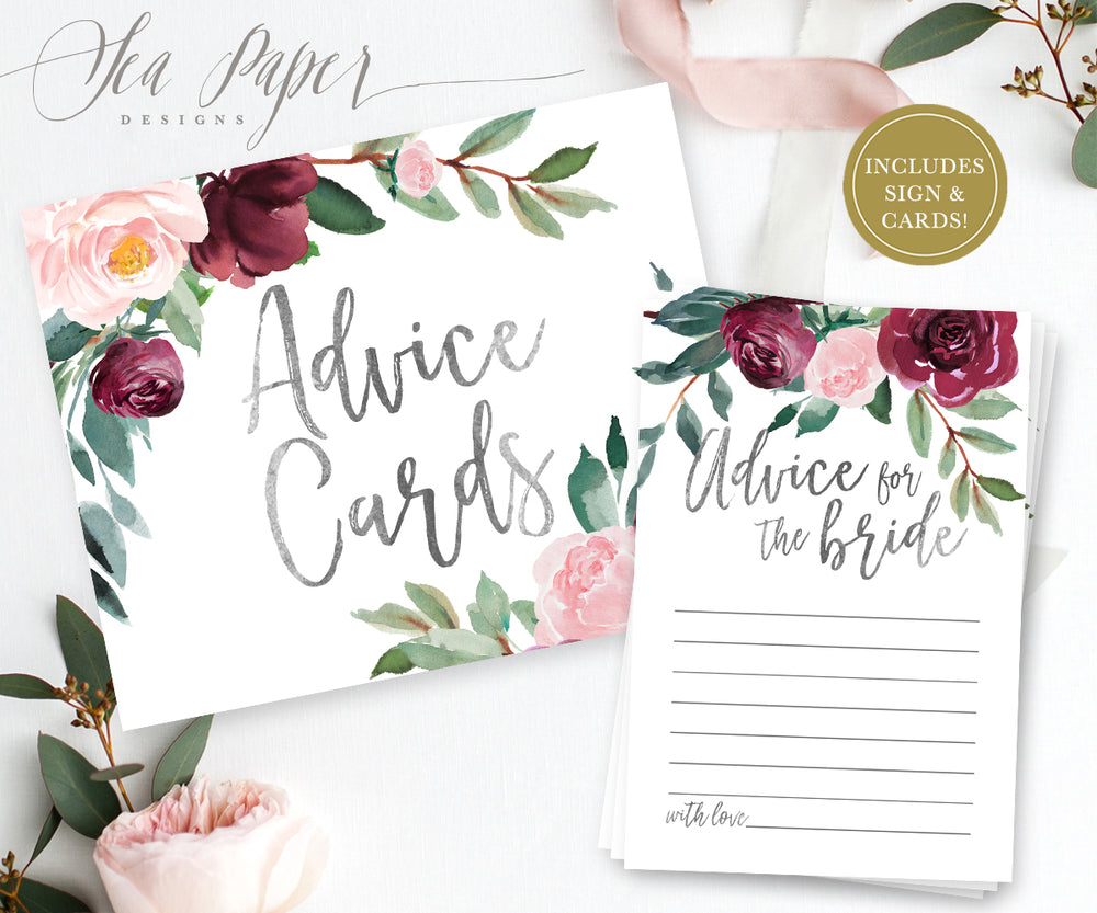 Odette: Advice for The Bride Cards {Black}