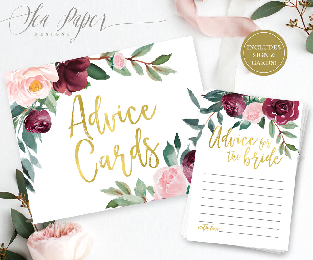 Odette: Advice for The Bride Cards {Gold}