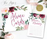 Odette: Advice for Mom Cards {Burgundy}