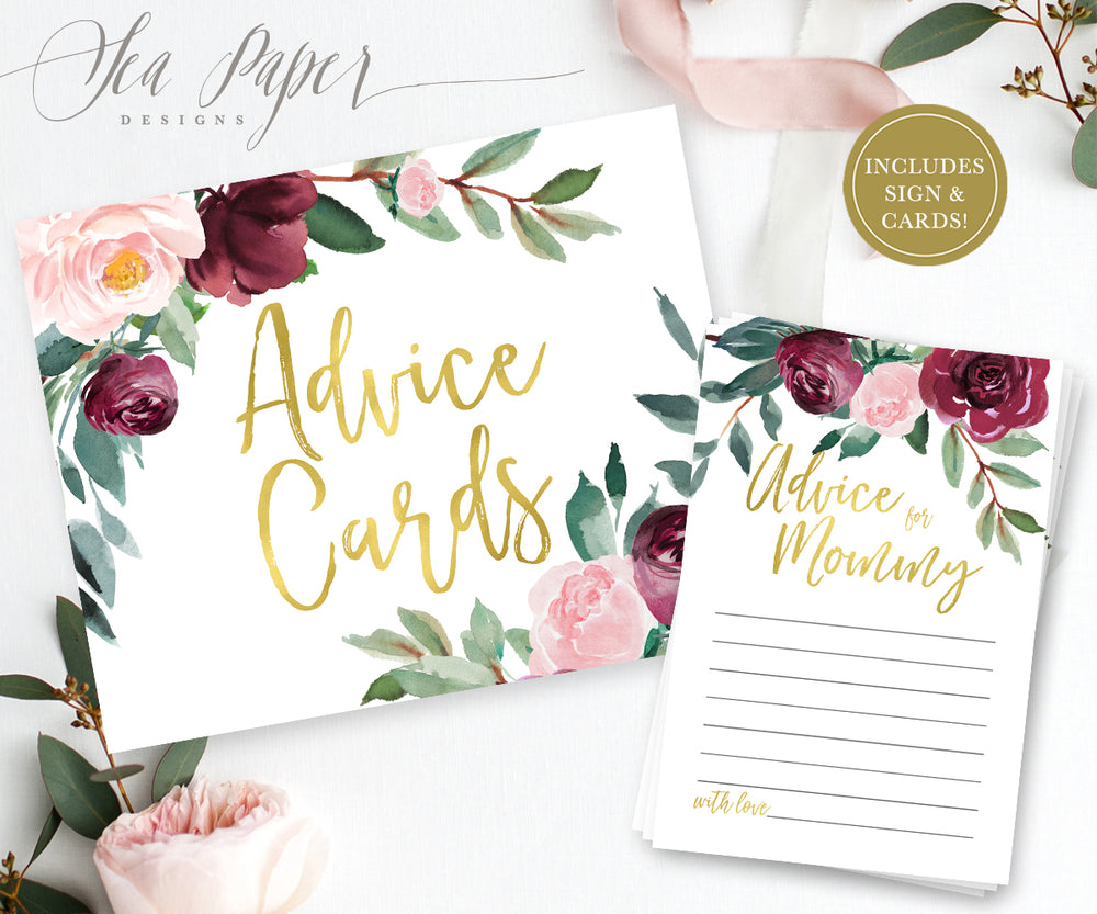 Odette: Advice for Mom Cards {Gold}