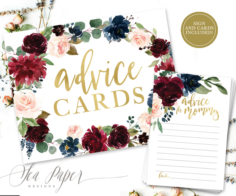 Kristen: Advice for Mom Cards {Navy}