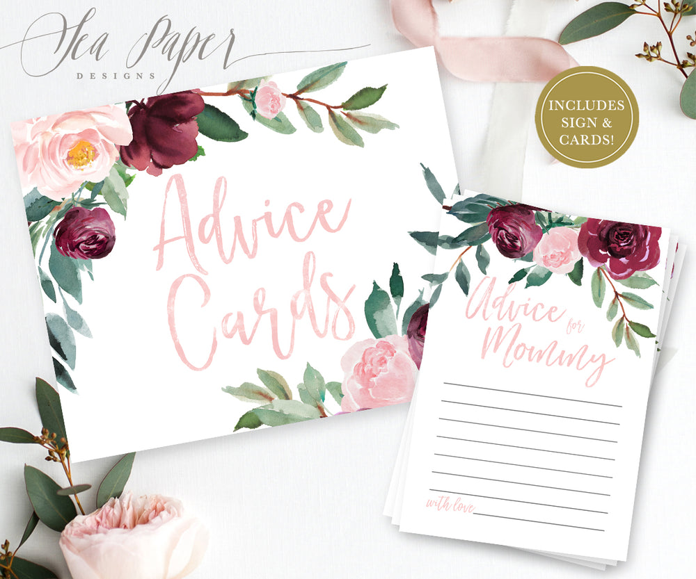 Odette: Advice for Mom Cards {Pink}