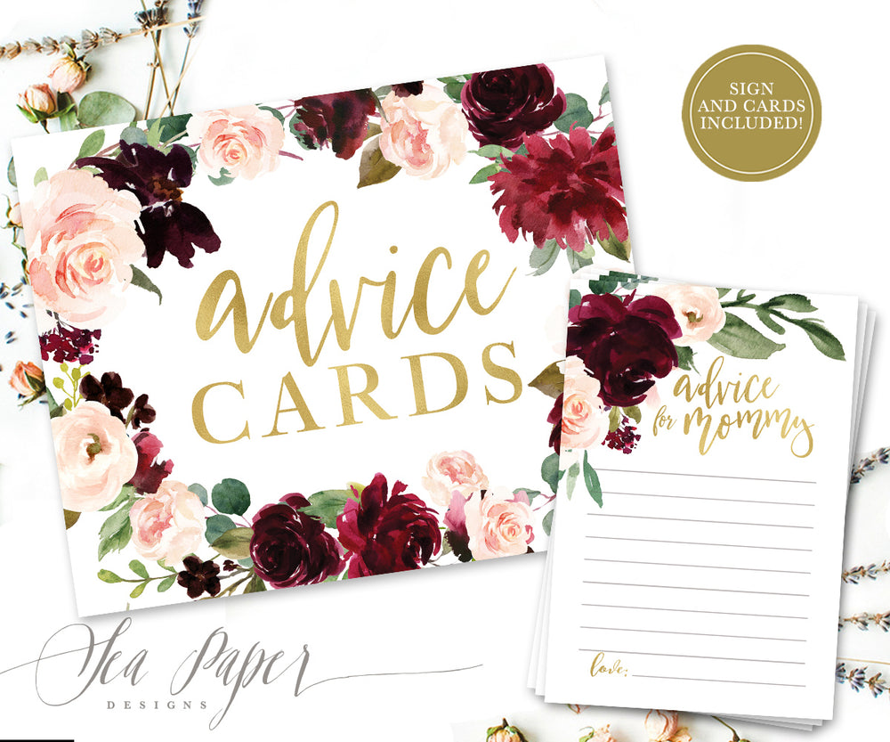 Kristen: Advice for Mom Cards {Burgundy}
