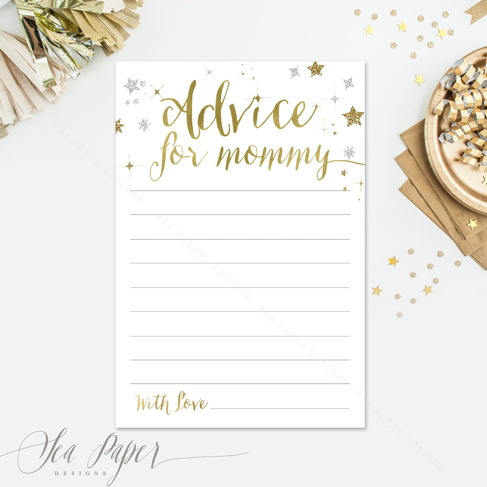 Star: Advice for Mom Cards {White}