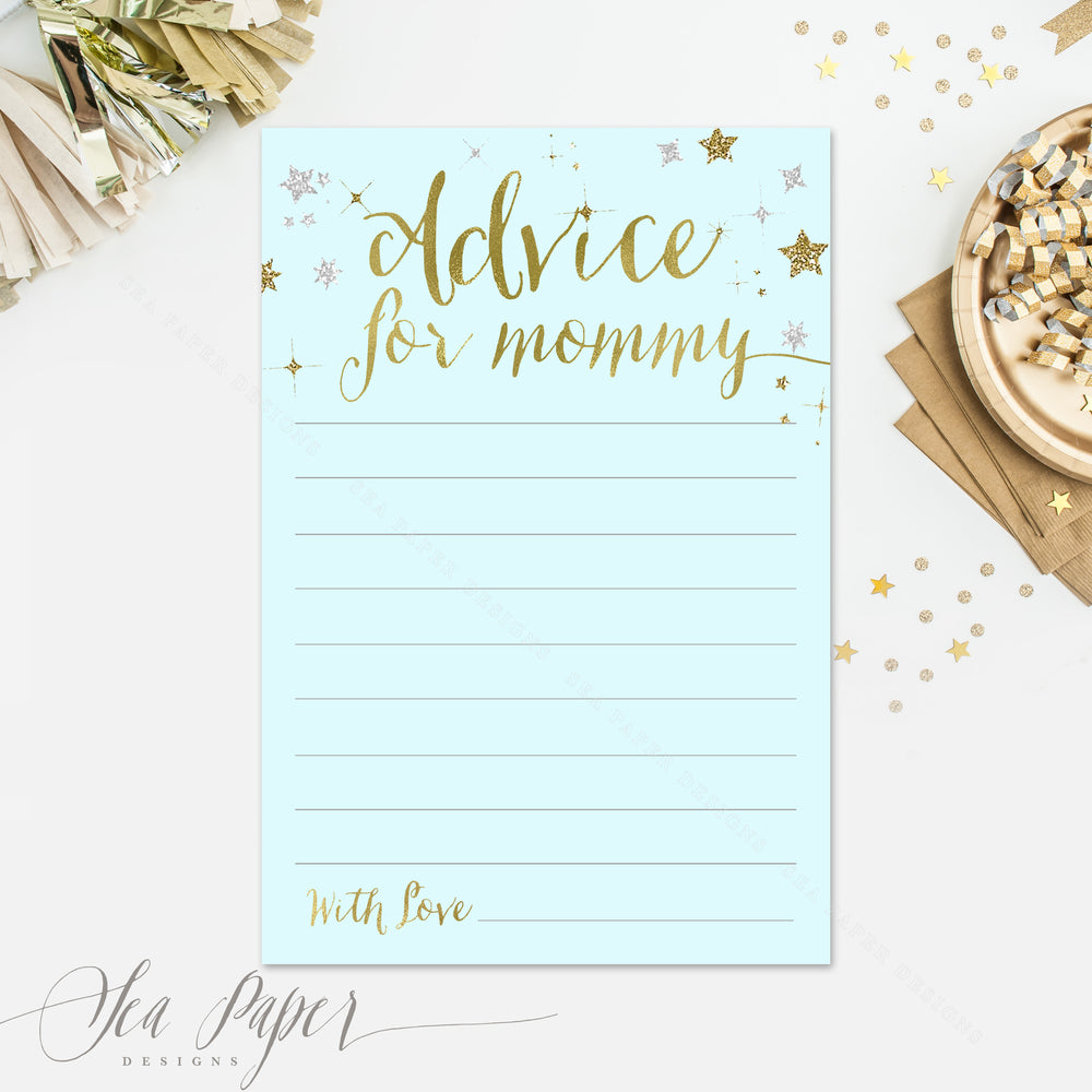 Star: Advice for Mom Cards {Blue}