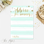 Star: Advice for Mom Cards {Mint Stripe}
