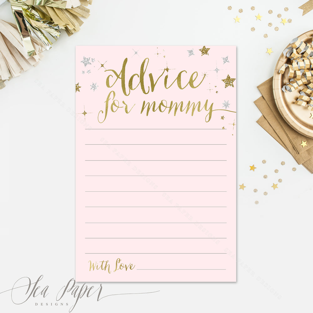 Star: Advice for Mom Cards {Pink}