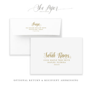 Ava: Bridal Shower Invitation {Gold}