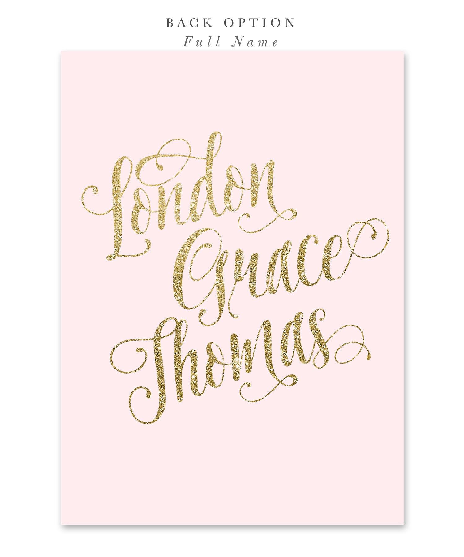 Ava Sweet Sixteen Party Invitation Blush Pink Gold Glitter