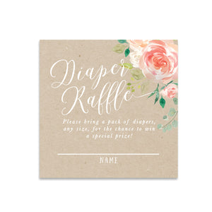 Avery: Diaper Raffle Enclosure Card