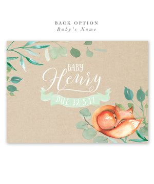 Avery: Fox Floral Boy Baby Shower Invitation