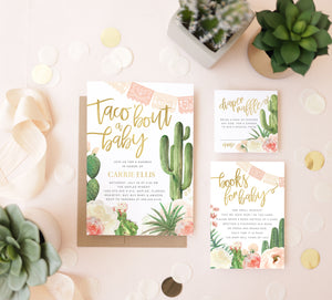 Taco 'Bout a Baby: Fiesta Baby Shower Invitation Set