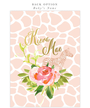 Glam Safari Jungle: Girl Baby Shower Invitation {Pink}