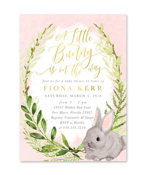 Fiona: Girl A Little Bunny Is On The Way {Pink}