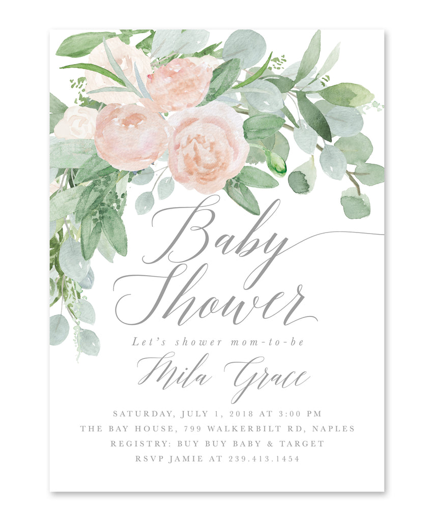 Mila: White Baby Shower