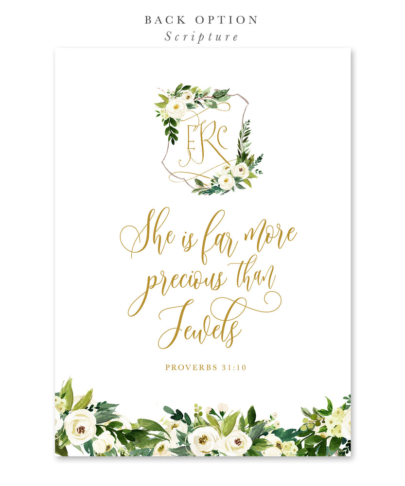 Evelyn: Floral Gender Neutral Baptism Invitation