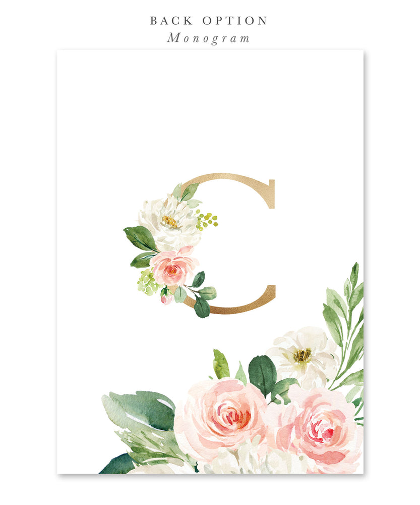 Charlotte: Floral First Birthday Invitation