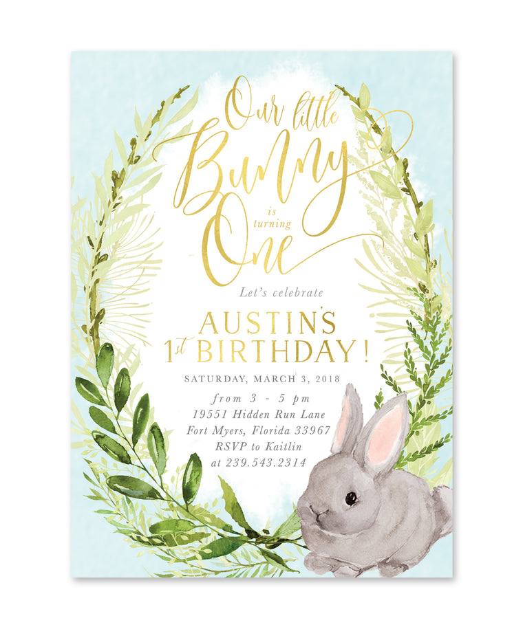Fiona: Boy Little Bunny Is Turning One {Blue}