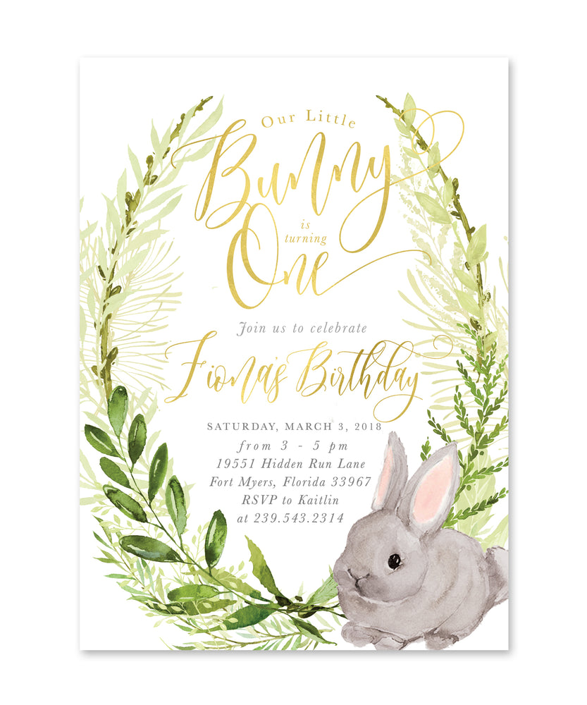 Fiona: Little Bunny Is Turning One {White}