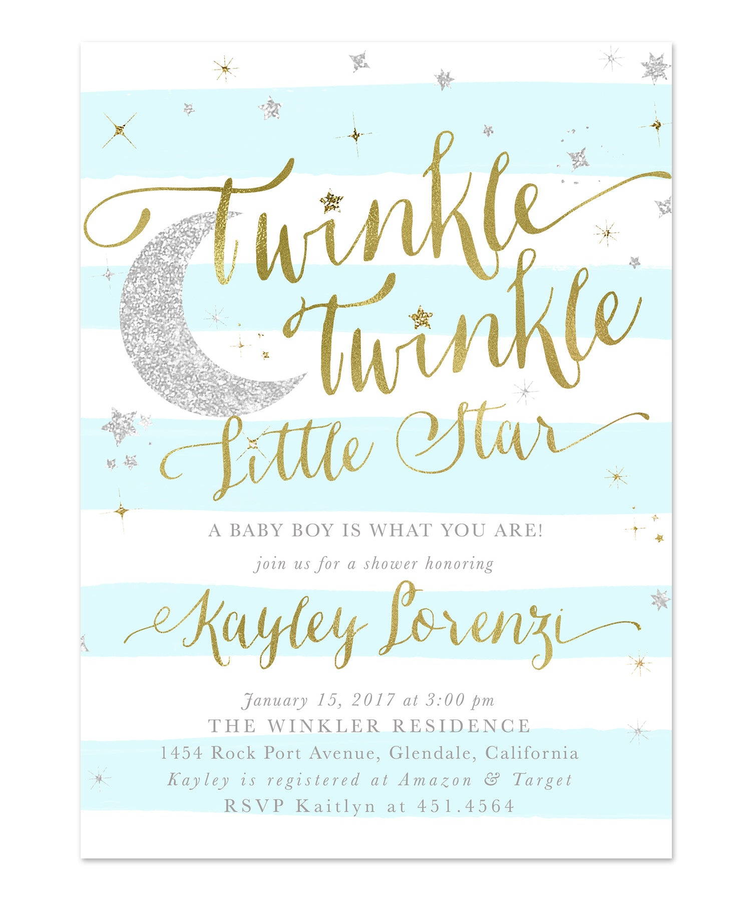 baby invitations front a blue for little boy invitation shower twinkle stripe products star stripes