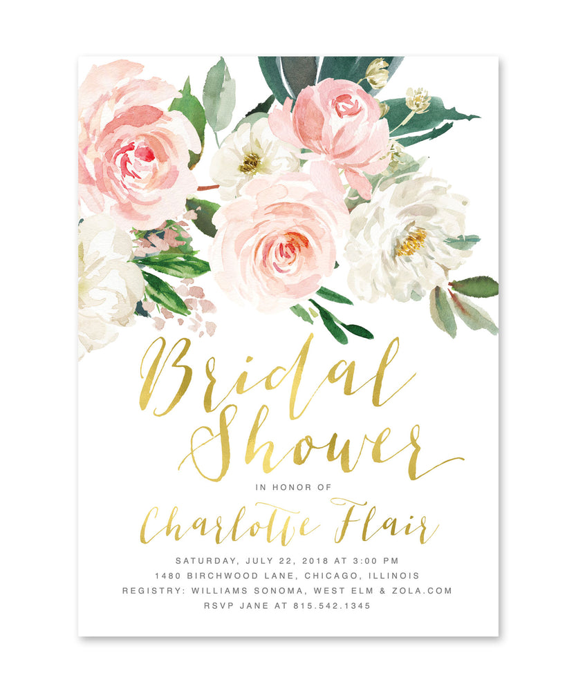 Charlotte: Floral Bridal Shower Invitation