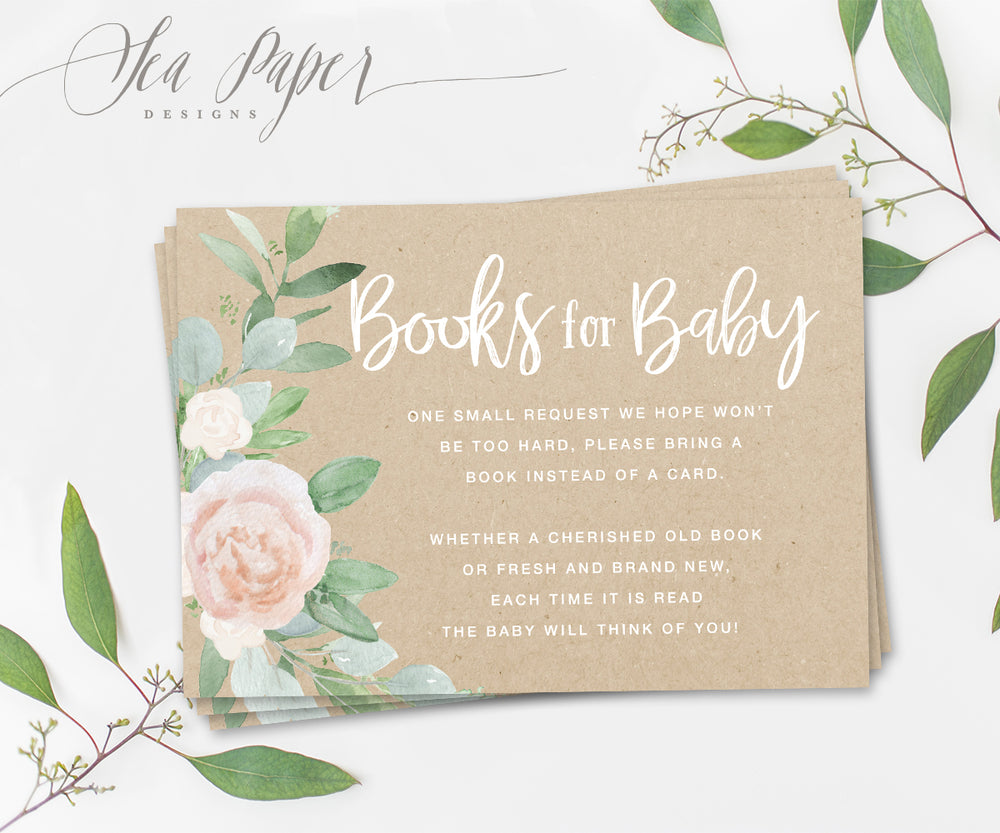 Mila: Books for Baby Cards {Kraft}