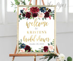 Kristen: Welcome Sign {Navy}
