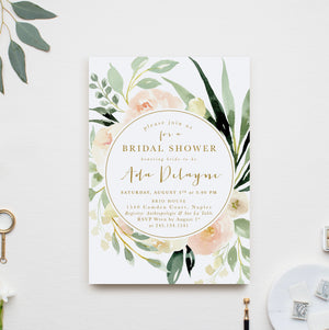 Ada: Floral Bridal Shower Invitation