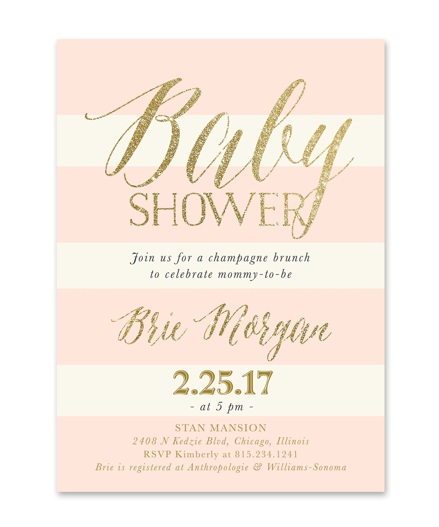 ready baby invitations shower in printed blush to invitation pink and rectangle pop glitter gold readytopopinvitation