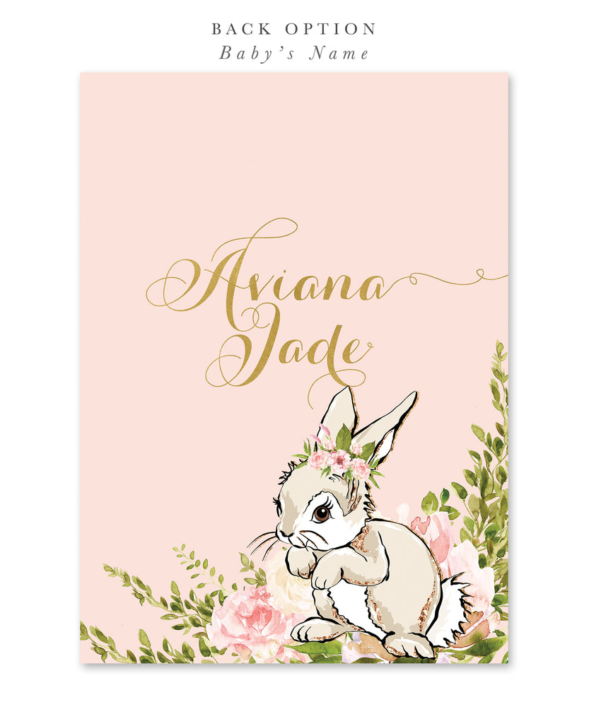 Sophia: Some Bunny Is Having A Baby, Baby Shower Invitation {White Bunny}