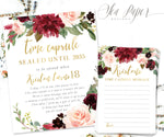 Kristen Time Capsule Sign & Cards {Burgundy}