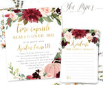 Kristen Time Capsule Sign & Cards {Burgundy Pumpkin}