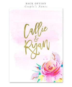 Callie: Bridal Shower Invitation, Summer, Tropical Flowers for Destination Wedding
