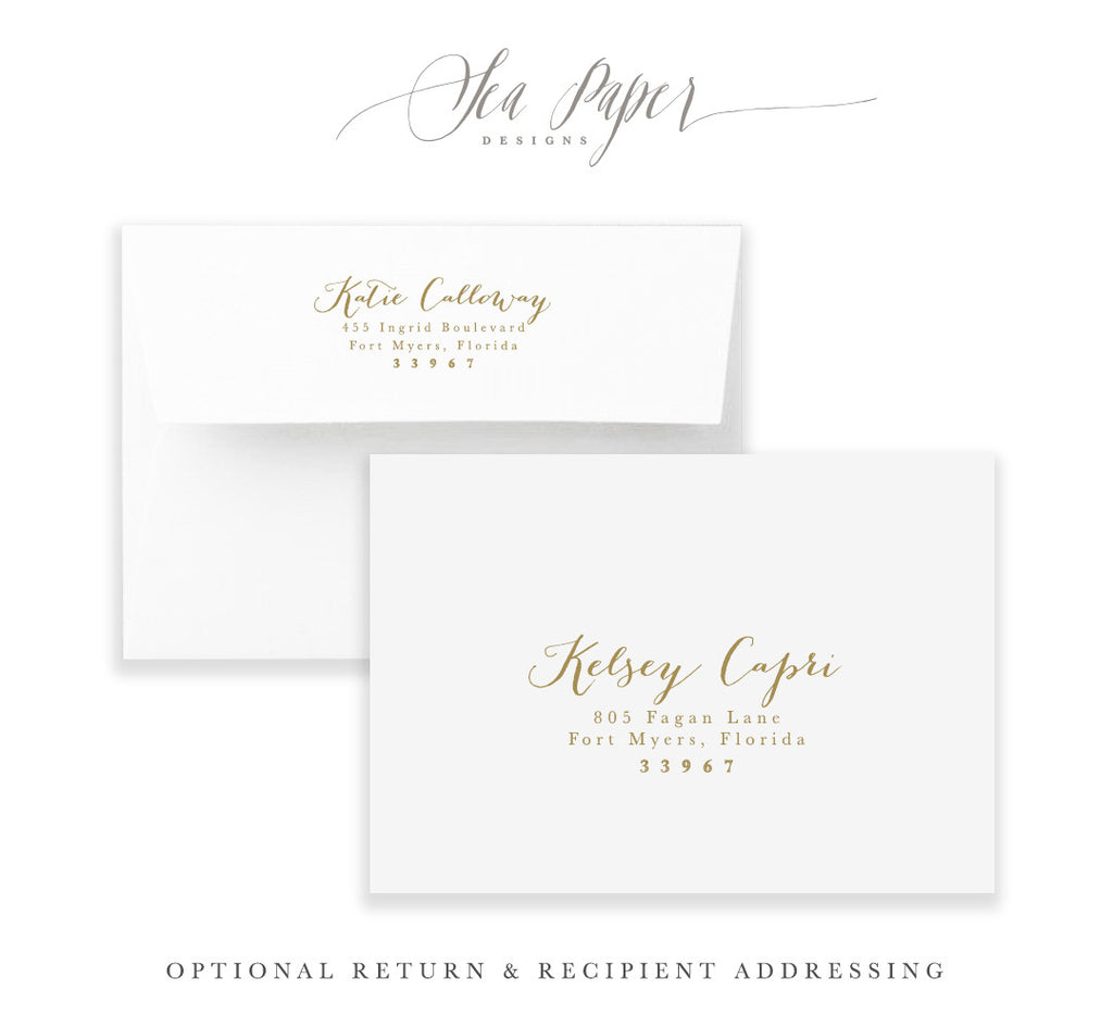 Capri: Hello Baby Invitation
