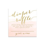 Capri: Diaper Raffle Enclosure Card {Pink}