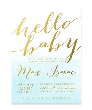 Max: Hello Baby Invitation