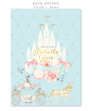 Cinderella: Royal Baby Shower Invitation {Blue}