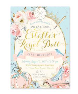 Cinderella: Princess Birthday Invitation {Pink}
