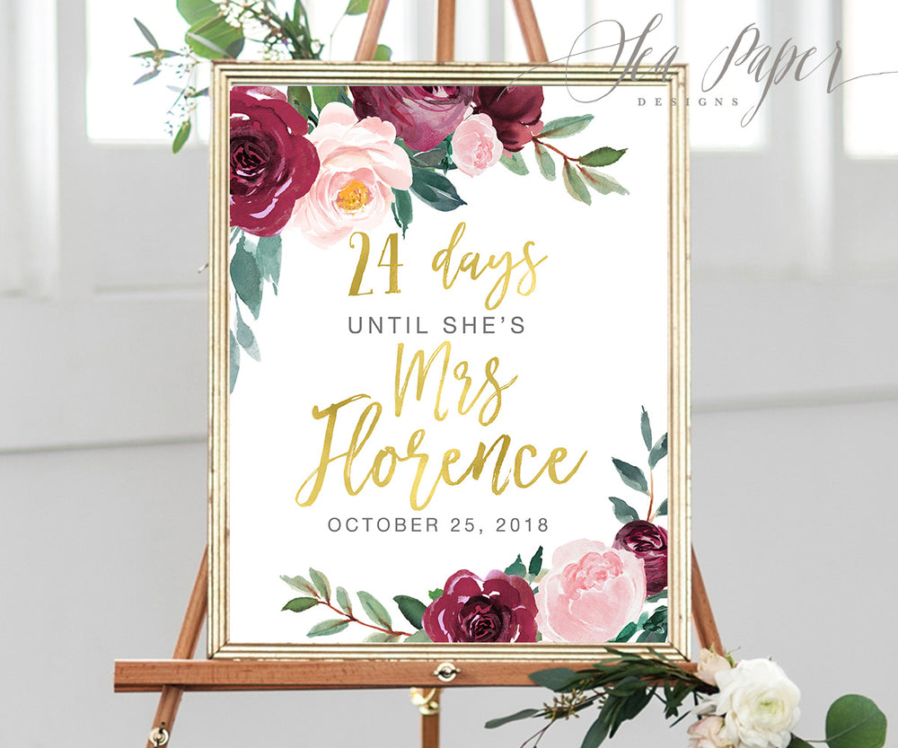Odette: Days Until Mrs. Sign {Gold}