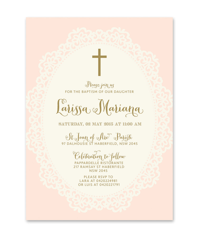 Ella: Baptism Invitation
