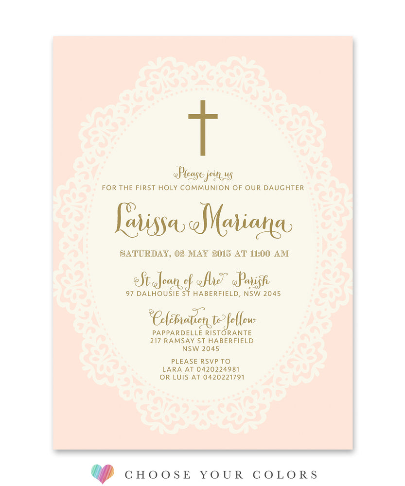 Ella: First Communion Invitation