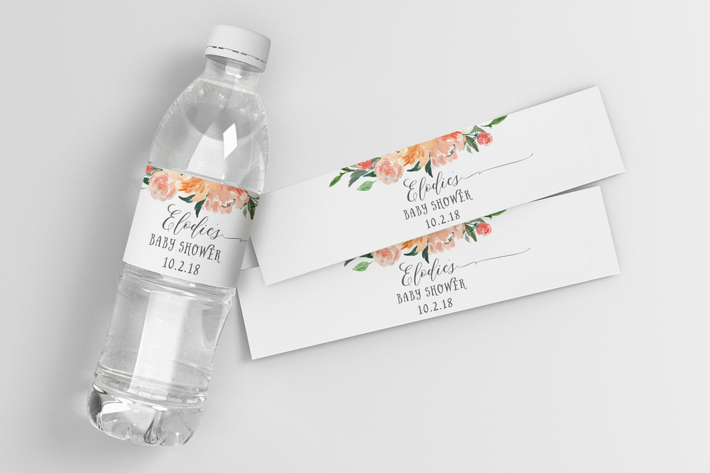 Elodie: Water Bottle Label
